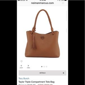 Tory Burch triple compartment McGraw tote bag